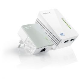 TP-LINK Powerline AV600 2x100Mbps + Wireless N-es 300Mbps, TL-WPA4220 KIT
