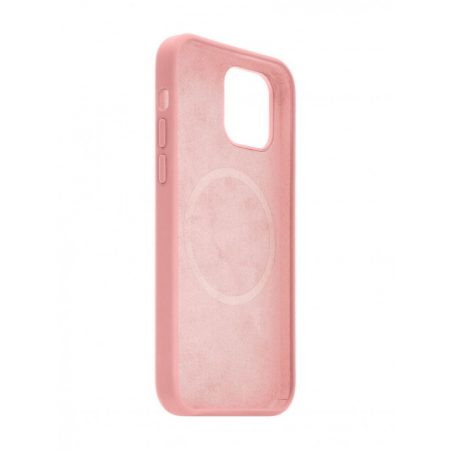 FIXED MagFlow back cover with Magsafe support for Apple iPhone 12 mini, pink