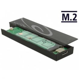 DELOCK Külső Ház M.2 SSD 42/60/80mm USB 3.1 Gen 2 Type-C female