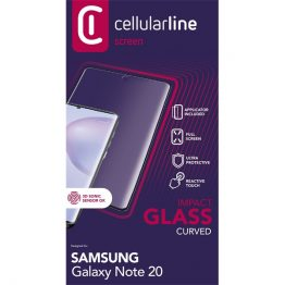 Cellularline Képernyővédő fólia, ANTISHOCK TEMPERED GLASS GALAXY NOTE 20