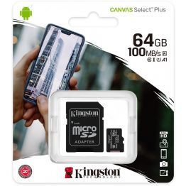 Kingston microSDHC Canvas Select Plus 64GB C10/UHS-I SDCS2/64GB
