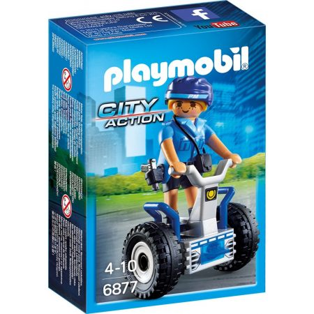Playmobil City Action - Rendőrnő kétkerekű járgánnyal (6877)